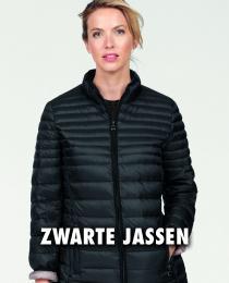 Zwarte gewatteerde jas