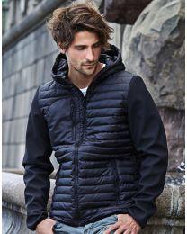 Gewatteerde jas, heren-Black