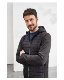 James & Nicholson Knitted Hybrid Jacket heren