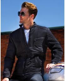 Gewateerde jas heren, Biker-Style, Result